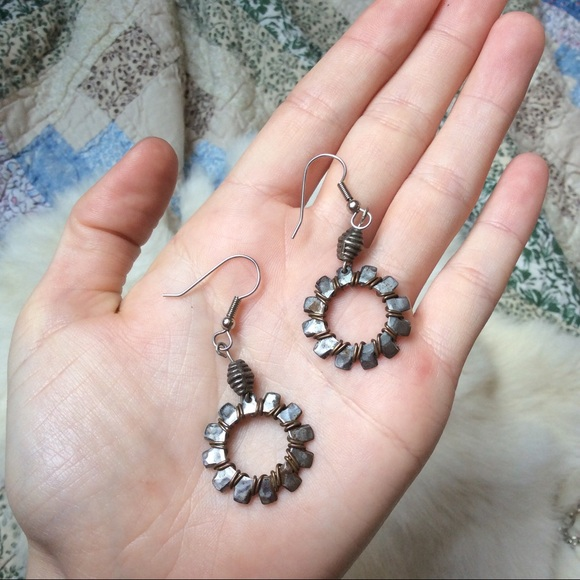 Vintage Jewelry - Washer Construction Worker recycle Earrings